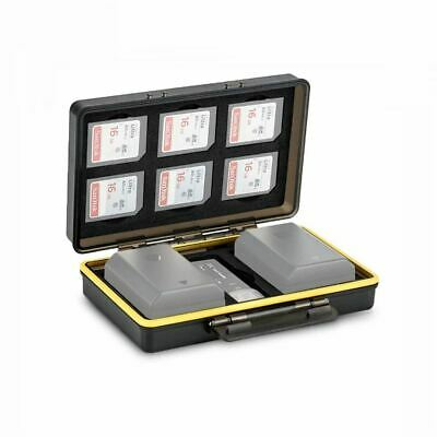 JJC BC-3SD6 2in1 Universal Battery Case fits 2x Batteries ≤ 59x39x22mm and 6x SD