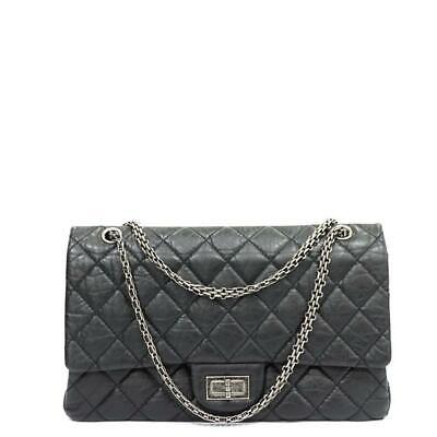 b9f220cd828 Chanel Black Large 227 Jumbo Reissue 2.55 Classic Double Flap Bag GHW 63356.