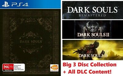 Dark Souls Remastered + II + III Trilogy With All DLC Content Sony Playstation 4