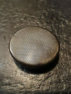 Antique Solid Birmingham Silver Pill Box 1928