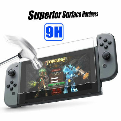 2 Pack of  TEMPERED GLASS Screen Protector Covers For Nintendo Switch Lot