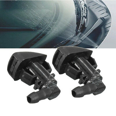 2X Front Windscreen Water Nozzle For Ford Focus 2008-2011 Mist Washer Jets Spray
