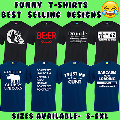 Funny Mens T-Shirts Joke Novelty Tee Rude Design Gift For Him Dad S - 5Xl Top