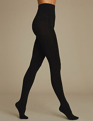 Pack of 2 Famous Make Black Fleece Lined 200 Denier Thermal Tights. Sizes S-XL.