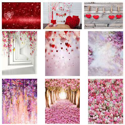 Flower Wall Floor Photography Valentine's Day Backdrop Photo Studio Backgro T2H8