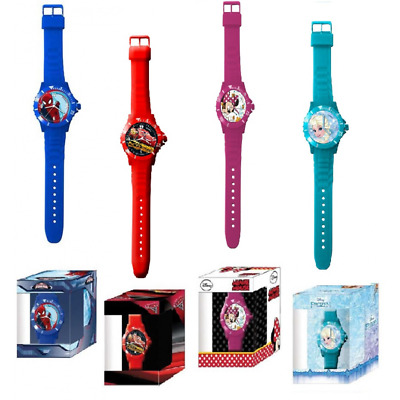 Orologio DISNEY mod. FROZEN - SPIDERMAN - CARS - MINNIE Bambini gomma colorata