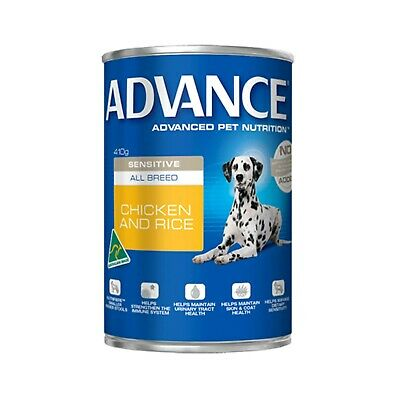 Advance Dog Chicken and Rice Sensitive All Breed - 12x410g (DA410AABSX12)