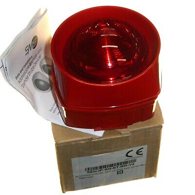Addressable Sounder Strobe Alarm IP55 Weatherproof Red Lens UK Made Honeywell