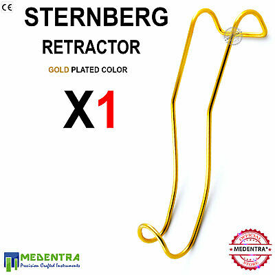 Dentists Sternberg Lip and Cheek Retractor - Double-Ended Golden Titanium Coated
