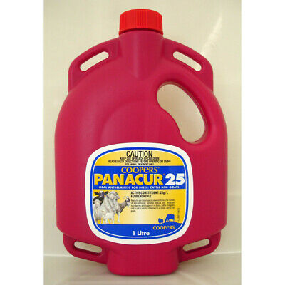 Panacur 25 Broad Spectrum Oral Drench Round Worm Sheep Goat Cattle  1L (WCP251)