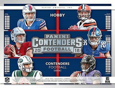 2018 Panini Contenders Football Complete Base Set (100) Cards - Free Shipping