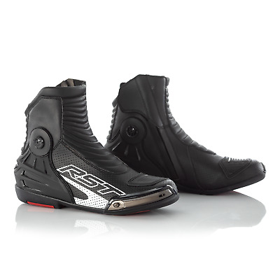 RST Tractech Evo III 3 Short Motorcycle Motorbike Boots - CE APPROVED - Black