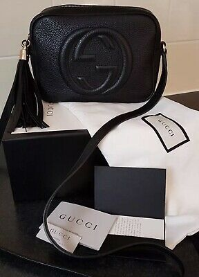 d9e26fccc 100% Authentic Black Gucci Soho Disco Bag With Copy Of Receipt And Box/ Dustbag