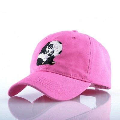 Panda Embroidery Snapback Baseball Cap Men Cappelli Hip Hop Hat For Women Solid