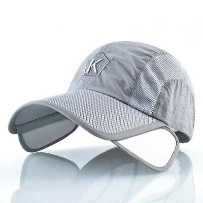 Summer Baseball Cap Men Women Retractable Visor K Embroidery Snapback Mesh Hat