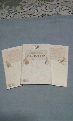 Royal Mint Beatrix Potter Collector Albums Folder Set 2016, 2017, 2018 BRAND NEW
