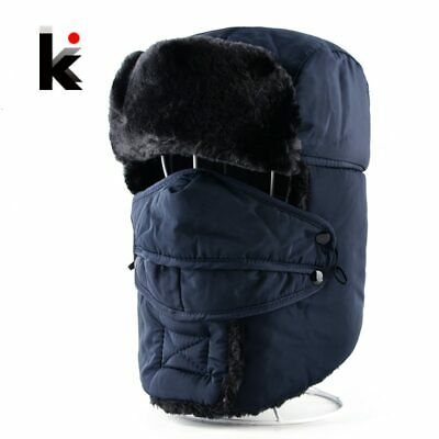 Winter Bomber Hats For Men And Women Trapper Thicker Faux Fur Cap Russian
