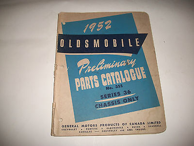 1952 Oldsmobile Series 36 Early Issue Parts Catalog Cmystore4More