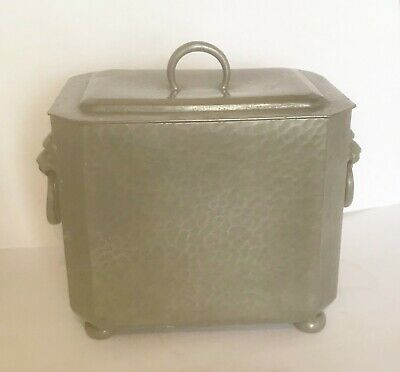 Antique Art Deco Pewter Tea Caddy - TUDRIC / LIBERTY & Co - Stamped on Base