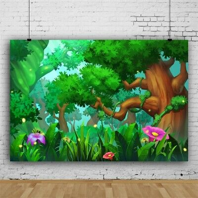 Fairy Jungle Backdrop Birthday Party Event Decoration Photo Background 10x8ft