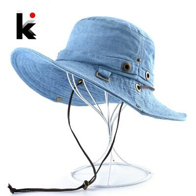 Washed Denim Sun Hat Summer Fashion Cowboy Hats For Men Women Anti-UV Beach