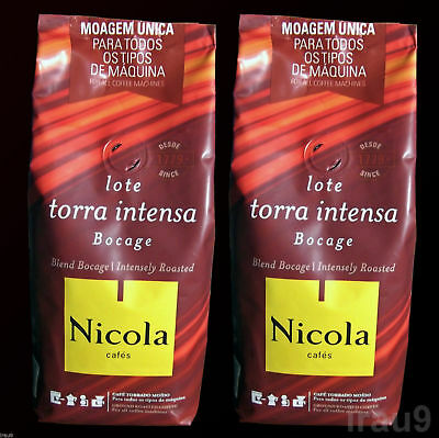 Nicola Ground Coffee Intensely Roasted Portuguese full body 2x 250g, 500g 1.1lb