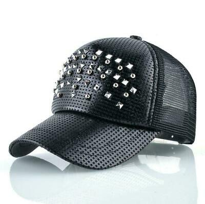 Fashion Women Baseball Cap Men Shinning Hip Hop Casquette Rivet Snapback