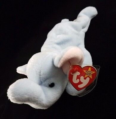 ccfc5cc6129 BEANIE BABIES PEANUT Light Blue Ty Inc. 1993 RETIRED w  TAG ERRORS - PVC