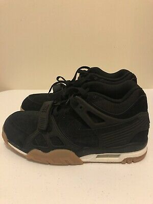 more photos fdd8e 682bf Nike Air Trainer III 3 705426-002 Black Gum Suede Shoes 2015 Men s Size 8.5