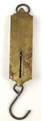 Vintage Brass Pocket Scale Excelsior Improved Spring Balance Household 50 lb