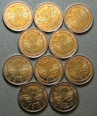 2004 FINLANDE 2 euro COMMEMORATIVE 10 pieces circulated