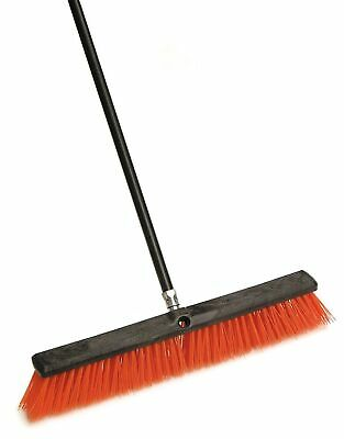 Laitner Brush Company 267 24 Stiff Outdoor Push Broom With 60 Metal Handle
