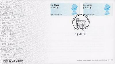 GB 2016 (11th May) Post & Go Stamps (Print Error) on Royal Mail Cover