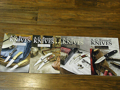 A.G. Russell Knife Catalogs, 4ea 2011, Near Mint Condition