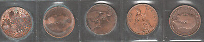 """Great Britain UK Penny coin LOT 1917 1902 1944 1915 1945  """"starting from $0.99"""""""