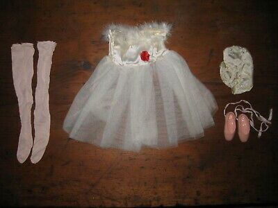 "Vintage Doll Clothes 19"" Ballerina Outfit with slippers & stockings 1950's"