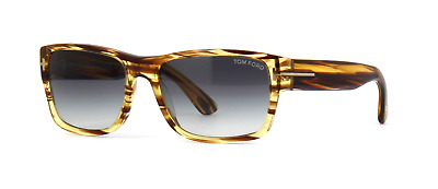 ec169a2c603 Tom Ford Mason TF445 50B Sunglasses Striped Brown Frame Grey Gradient Lens  58mm