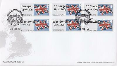 GB 2012 (21st May) Union Flag Post & Go Stamps on Royal Mail Cover