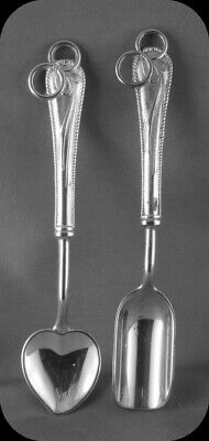 Set of two Wedding Ring Collector Spoons Silverplate