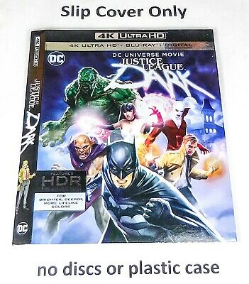 Justice League Dark 4K - Slip Cover Only (no blu ray) DC Universe Movie