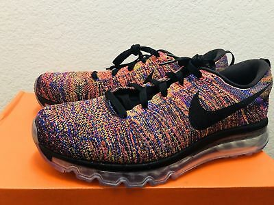 the best attitude 181bb 42227 Nike Flyknit Max Chaussures Course Multicolore Crimson Noir (620469-012) Sz  12.5