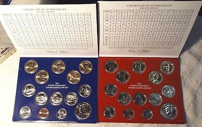 2014 United State Coin Mint Set Coin Collection P D 28 Coins 13.82 Face