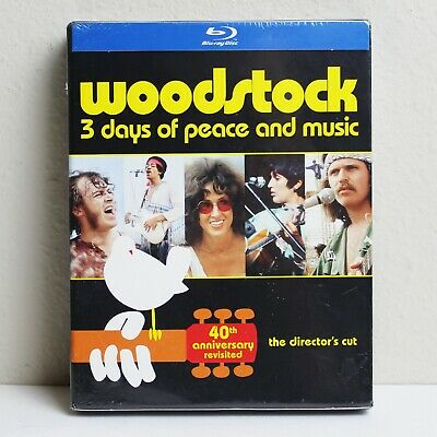 Woodstock: Three Days of Peace & Music (Blu-ray Disc, 2014, 3-Disc Set) *NEW*