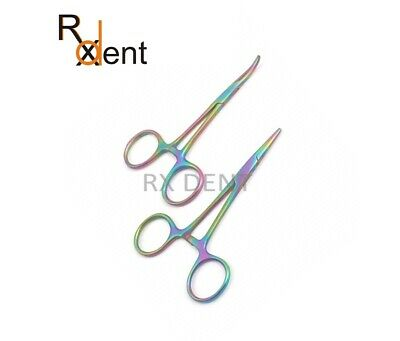 Multi Color Halsted Mosquito Artery Forceps 12cm surgical Dental Instruments