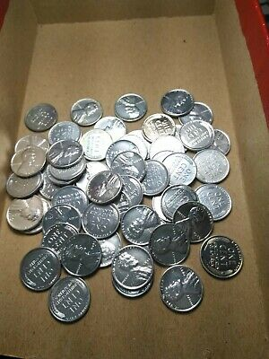 Full roll( 50) 1943 Steel Lincoln wheat pennies- reprocessed- no reserve