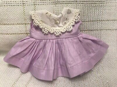 1955 Vintage Doll CLOTHES - DRESS, Lavender(tags), Vogue Ginny, Muffie, 8""