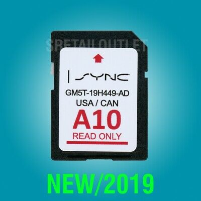 A10 2019 GPS Navigation SD Card Sync Fits All Ford Lincoln Updates A9 A8