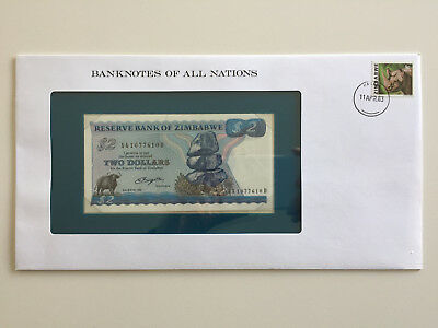 Banknotes of All Nations – Zimbabwe $2 UNC 1980