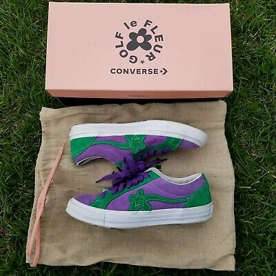 b2ac037f8337 Converse One Star X GOLF LE FLEUR Purple Heart Jolly Green US 10 FREE  SHIPPING