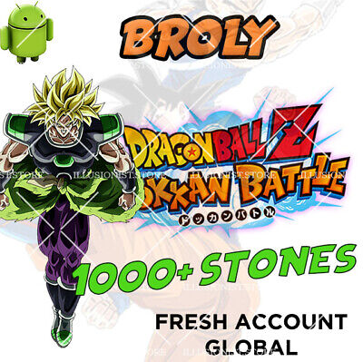 🌟 Android - Dokkan Battle - Broly PHY 1000+ Dragon Stones - FRESH GLOBAL